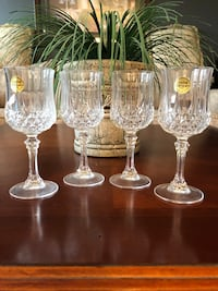 4 Crystal wine glasses Brampton, L6S 4X6