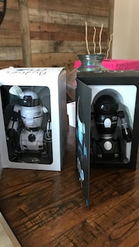 Two white and black robot toys Coral Springs, 33065