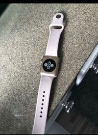 white Apple watch with white sports band Clinton, 20735