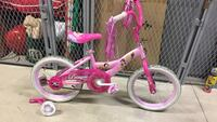 Pink Disney princesses bicycle with training wheels
