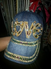 blue and gold denim studded fitted cap Brigham City, 84302