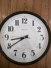 Bulova wall clock Fairfax