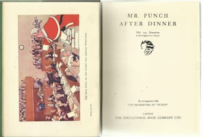 vintage 1930s Mr. Punch AFTER DINNER  - from the New Punch Library, vo