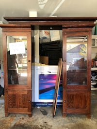 brown wooden cabinet with mirror Houston, 77014