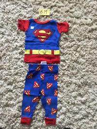blue and red Superman print onesie Piedmont, 29673