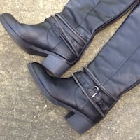 Women's Sugar Vally Black Zip Boot With Straps & Buckles - Size 6.5 - Excellent Condition Chicago, 60622