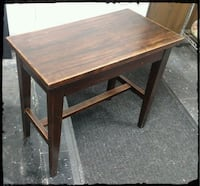 Vintage Wooden Bench / Wooden Dark Stained Stand / Hall Table
