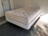Queen Bed with Pillow Top Mattress, Box spring and Metal Bed Frame  Las Vegas, 89119