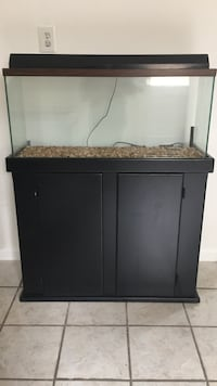 black wooden framed fish tank Arlington, 22205