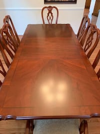 Beautiful dining room set with 8 chairs and china cabinet. Moving and can't take with us.  Culpeper, 22701