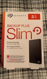 Seagate Backup Plus Slim 2TB SSD External Hard Drive Centreville, 20120