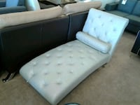Greater silver leather chaise lounge chair Phoenix, 85018