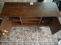 brown wooden TV stand with cabinet Edinburg, 78541