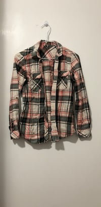 Brown and black plaid dress shirt small size Coquitlam, V3J 3N9