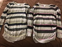 2 Maternity Sweater Tops - Size M