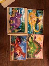 Melissa and Doug 4 in 1 puzzle. Dinosaurs Columbia