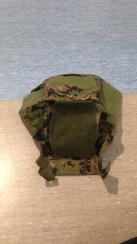 green and brown camouflage helmet cover  3666 km