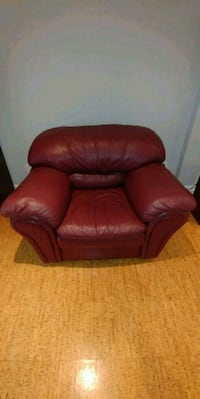 red leather sofa chair with ottoman Oshawa, L1J 4L9