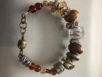 brown, silver-colored and yellow beaded bracelet Calgary, T2B 0S1