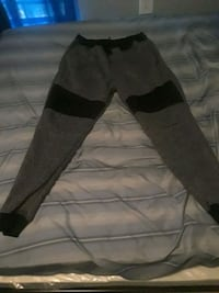 black and gray pants and black leather belt 968 mi