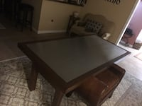 Custom salad mahogany stainless table! 800$ new was over 2,000$ Potwin, 67123