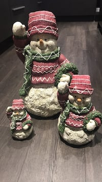 Outdoor snowman 3 pieces Burnaby, V5C