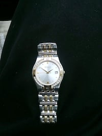 round silver-colored analog watch with link bracelet Newark, 07112