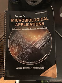 Barely used microbiology lab book