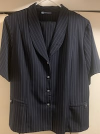 Navy Pinstripe Pantsuit View Royal, V9B 5J8