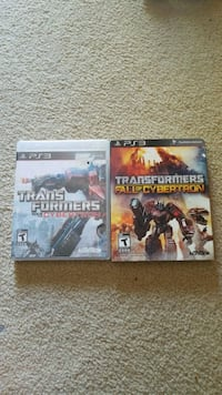 2 Transformers series ps3 games Mississauga, L5A