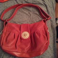 Pink over shoulder purse like new