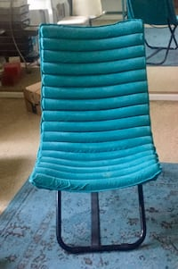 Lounge chair foldable, turquoise
