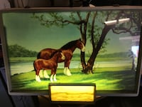 brown wooden framed painting of man riding horse Cypress, 90630