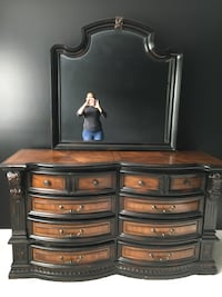 All Wood Designer Style Dresser with accessories shelves that open and close on the side . Upper Marlboro, 20774