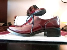 BOEMOS Burgundy Wingtip Oxford Dress Shoes Loafers