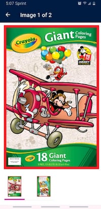 Crayola Giant Coloring Pages, Mickey's 90th Birthday LIMITED SUPPLY    Tualatin, 97062