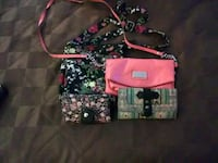 pink and black leather crossbody bag 740 km