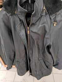 Leather coat with detachable liner and hat Stanhope, 07874