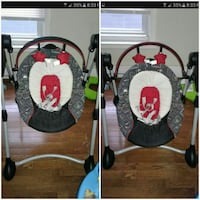 gray and red cradle and swing collage screenshot