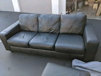 Ikea leather couch with ottoman