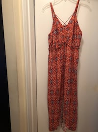 Orange Print Maxi Dress Montclair