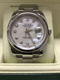 """2016 Rolex Datejust. Worn once considered """"Used"""" aftermarket custom dial with all receipts with serial number from jeweler and box. (Also have 2 new with boxes and paper for 7500 or best offer). All three purchased at the same time and from the same deale Anaheim, 92801"""