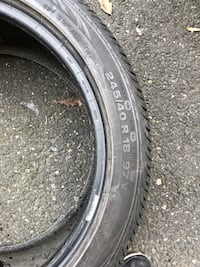 Black car tire with tire
