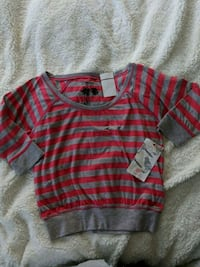 red and gray stripe scoop neck long sleeve shirt Vancouver, V6G 2J2