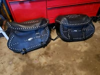 Harley Davidson leather saddlebags.  The Colony, 75056