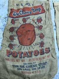 Vintage burlap potato sacks, vintage decoration Eastlake, 44095