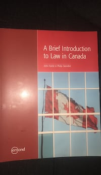 A brief Introduction to Law in Canada  Toronto, M3L 1Y7