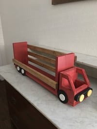 Wooden truck for mantle Dallas, 75220