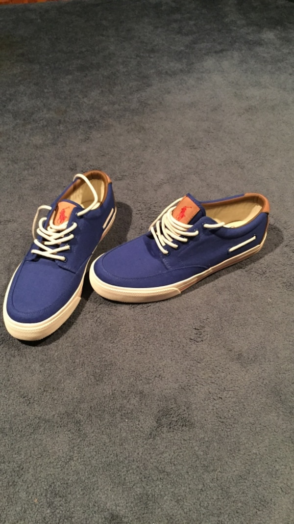 4c4f417c502 Used Blue-and-white Ralph Lauren low tops (never used) for sale in Cranston  - letgo