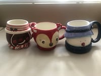 two white and red ceramic mugs San Diego, 92115